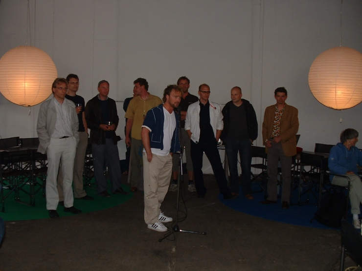 Supertanker-holdet ved åbningen i Strandgade